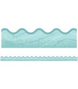 Blue Woodgrain Scalloped Borders Product Image