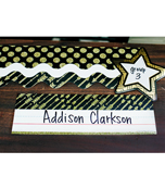 Gold Glitter Dots Scalloped Borders Product Image