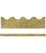 Gold Glitter Scalloped Borders Product Image