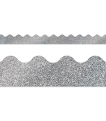 Silver Glitter Scalloped Borders Product Image