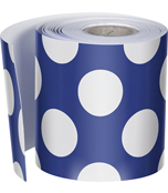 Navy with Polka Dots Straight Borders Product Image