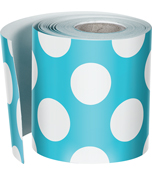 Teal with Polka Dots Straight Borders Product Image