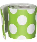 Lime with Polka Dots Straight Borders Product Image