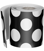 Black with Polka Dots Straight Borders Product Image