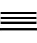 Black & White Stripes Straight Borders Product Image