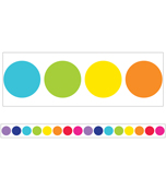 Rainbow Big Dots Straight Borders Product Image