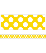 Yellow with Polka Dots Straight Borders Product Image