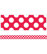 Red with Polka Dots Straight Borders Product Image