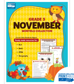 November Monthly Printable Collection Product Image