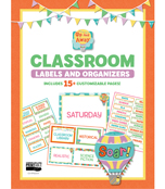 Up and Away Printable Classroom Labels & Organizers Product Image