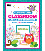 Colorful Owls Printable Classroom Labels & Organizers Product Image