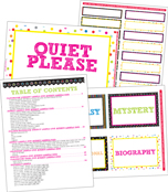 Colorful Chalkboard Classroom Printable Labels & Organizers Product Image