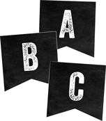 Industrial Chic Alphabet Printable Pennants Product Image