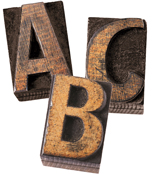 "Industrial Chic Bulletin 4"" Board Printable Letters Product Image"