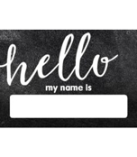 Industrial Chic Hello! Printable Name Tags Product Image