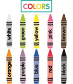 Just Teach Crayon Colors Printable Cut-Outs Product Image