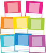 Just Teach NEON Small Printable Photo Cards Product Image