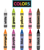 Just Teach NEON Crayon Colors Printable Cut-Outs Product Image
