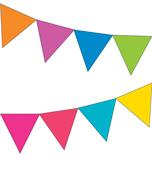 Just Teach Rainbow NEON Printable Pennants Product Image