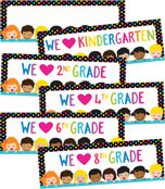 Just Teach NEON We Heart Printable Chart Set Product Image