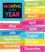 Just Teach NEON Month Printable Chart Set Product Image