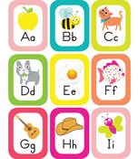 Pina Colada Pineapple Alphabet Cards with Images Printable Bulletin Board Set Product Image