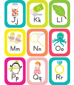 Just Teach Alphabet Cards with Images Printable Bulletin Board Set Product Image