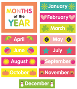 Just Teach Month Printable Chart Set Product Image
