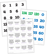 Numbers 0-120 Printable Pocket Chart Activities Product Image