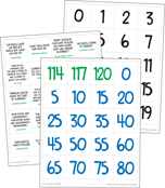 Nature Explorers Numbers 0-120 Printable Pocket Chart Activities Product Image