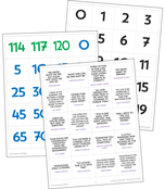 Celebrate Learning Numbers 0-120 Printable Pocket Chart Activities Product Image