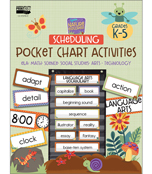 Nature Explorers Scheduling Printable Pocket Chart Activities Product Image
