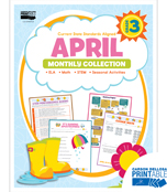 April Monthly Printable Collection Product Image