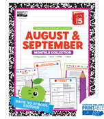 August & September Monthly Printable Collection Product Image