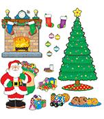 Christmas Scene Bulletin Board Set Product Image