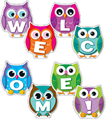 Colorful Owl Welcome Bulletin Board Set Product Image