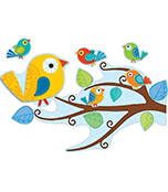 Boho Birds Bulletin Board Set Product Image