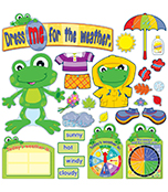FUNky Frog Weather Bulletin Board Set Product Image