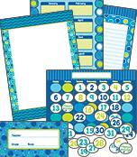 Bubbly Blues Bulletin Board Set Product Image