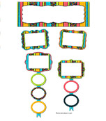 Stylin' Stripes Job Assignment Bulletin Board Set Product Image