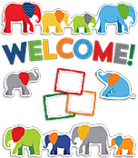 Parade of Elephants Welcome Mini Bulletin Board Set Product Image