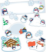 Winter Mini Bulletin Board Set Product Image
