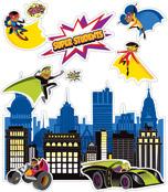 Super Power Super Kids Bulletin Board Set Product Image
