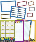 Super Power Classroom Organizers Bulletin Board Set Product Image