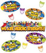 Super Power Heroic Students Mini Bulletin Board Set Product Image