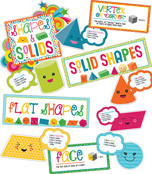 School Pop Shapes and Solids Bulletin Board Set Product Image