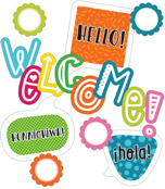 School Pop Welcome Mini Bulletin Board Set Product Image