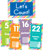 Just Teach Number Cards Bulletin Board Set Product Image