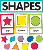 Just Teach Shape Cards Mini Bulletin Board Set Product Image