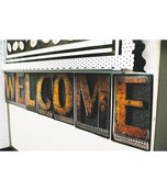Industrial Chic Welcome Bulletin Board Set Product Image